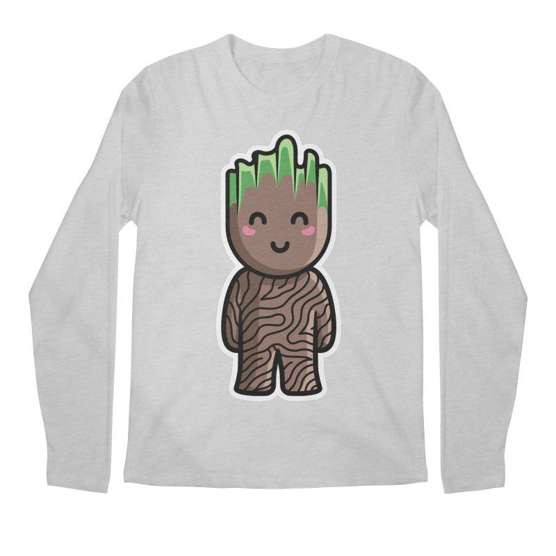 Kawaii Cute Baby Groot Men's Regular Longsleeve T-Shirt by Flaming Imp's Artist Shop