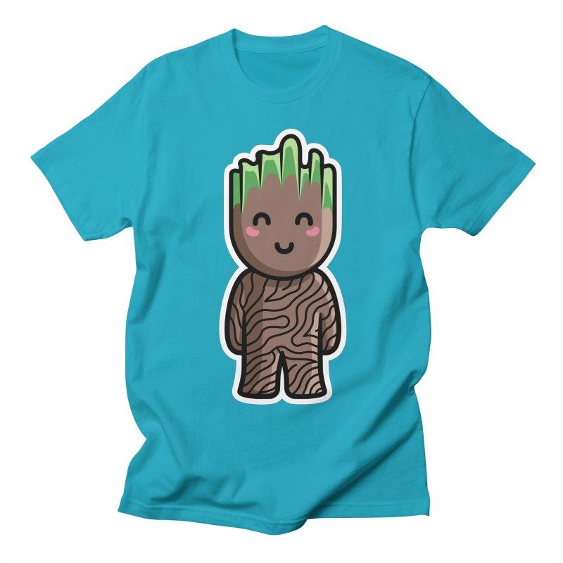 Kawaii Cute Baby Groot Women's Regular Unisex T-Shirt by Flaming Imp's Artist Shop