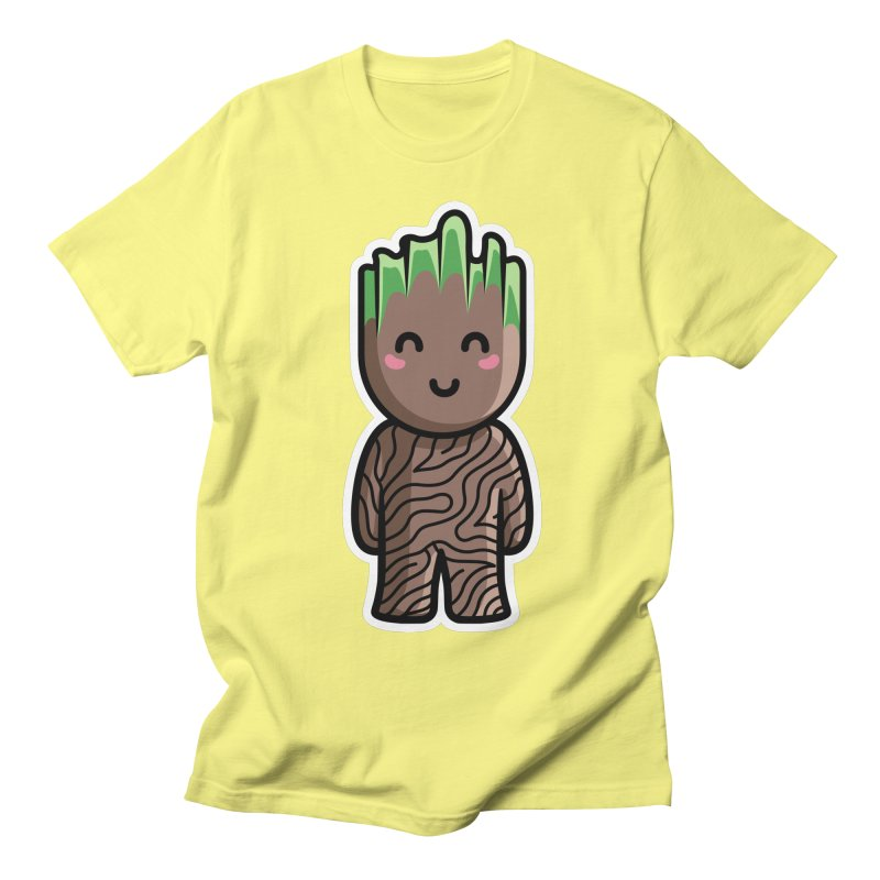 Kawaii Cute Baby Groot Men's Regular T-Shirt by Flaming Imp's Artist Shop