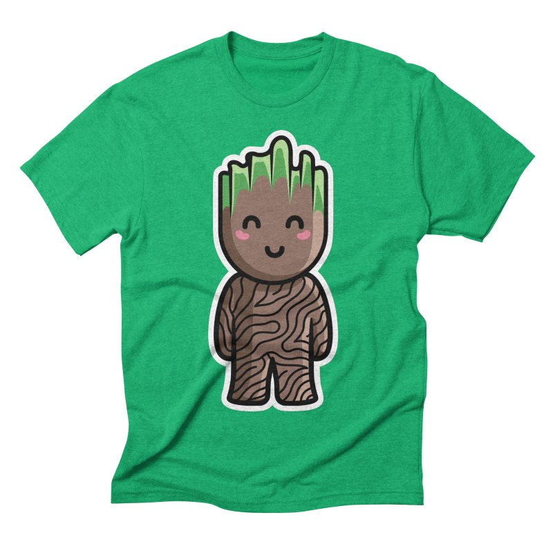 Kawaii Cute Baby Groot Men's Triblend T-Shirt by Flaming Imp's Artist Shop