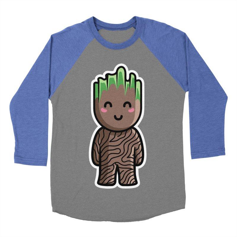 Kawaii Cute Baby Groot Women's Baseball Triblend Longsleeve T-Shirt by Flaming Imp's Artist Shop