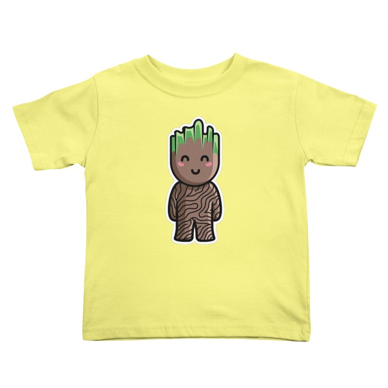 Kawaii Cute Baby Groot Kids Toddler T-Shirt by Flaming Imp's Artist Shop
