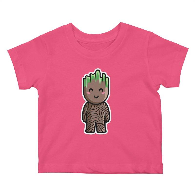Kawaii Cute Baby Groot Kids Baby T-Shirt by Flaming Imp's Artist Shop