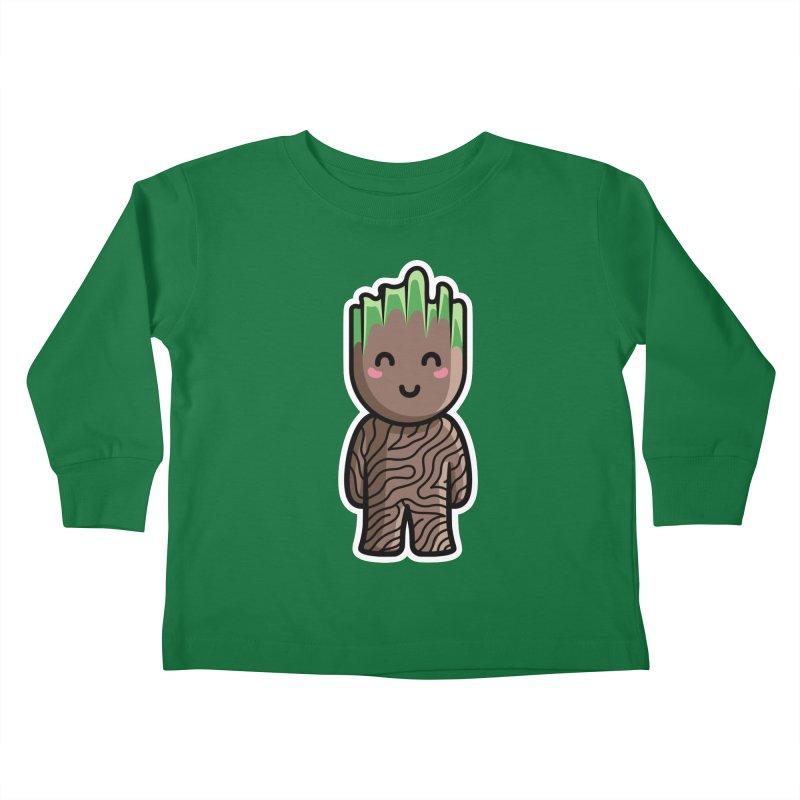 Kawaii Cute Baby Groot Kids Toddler Longsleeve T-Shirt by Flaming Imp's Artist Shop