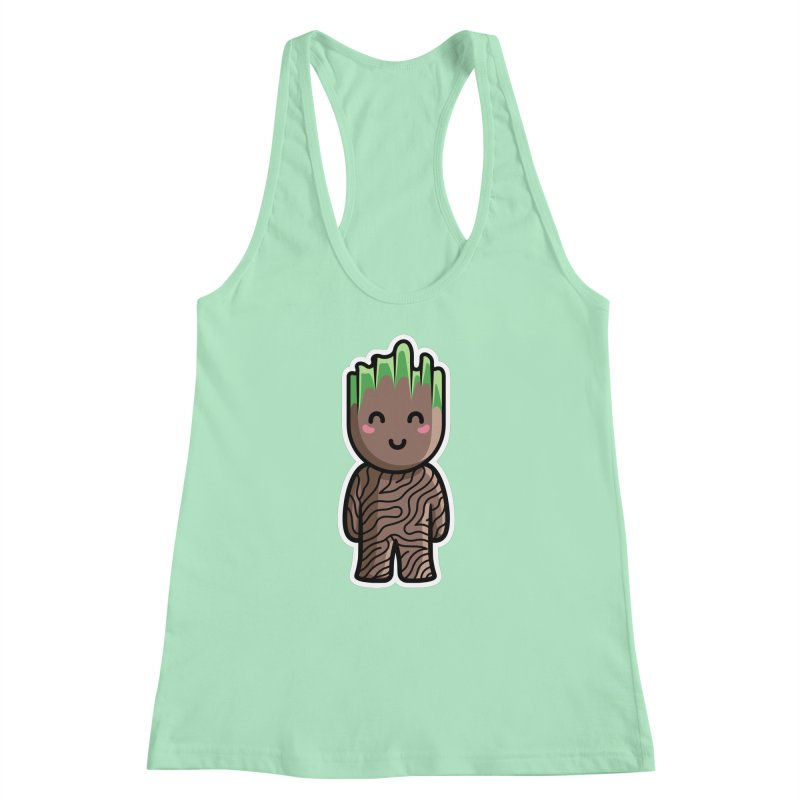 Kawaii Cute Baby Groot Women's Racerback Tank by Flaming Imp's Artist Shop