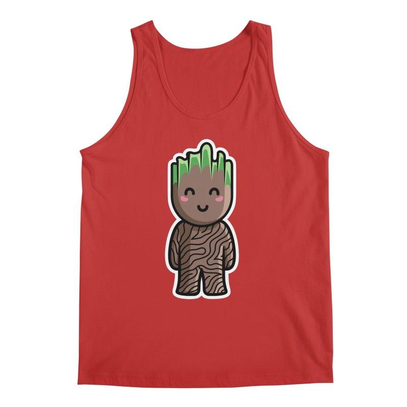 Kawaii Cute Baby Groot Men's Regular Tank by Flaming Imp's Artist Shop