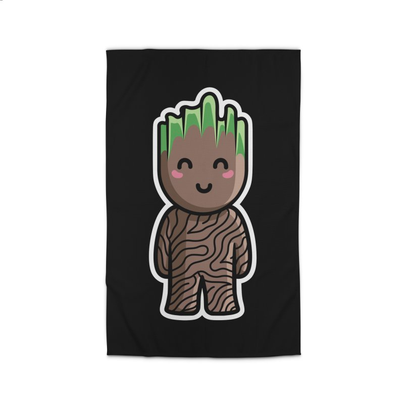 Kawaii Cute Baby Groot Home Rug by Flaming Imp's Artist Shop