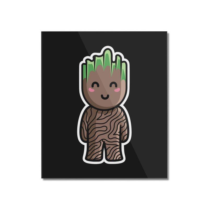 Kawaii Cute Baby Groot Home Mounted Acrylic Print by Flaming Imp's Artist Shop