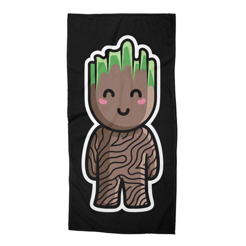 Kawaii Cute Baby Groot Accessories Beach Towel by Flaming Imp's Artist Shop