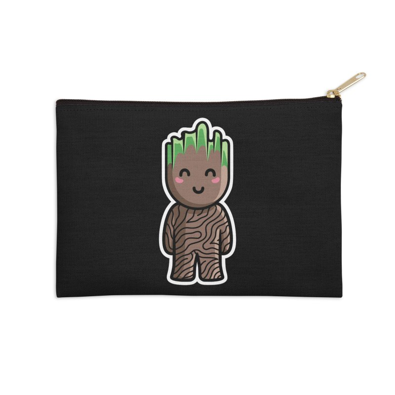 Kawaii Cute Baby Groot Accessories Zip Pouch by Flaming Imp's Artist Shop