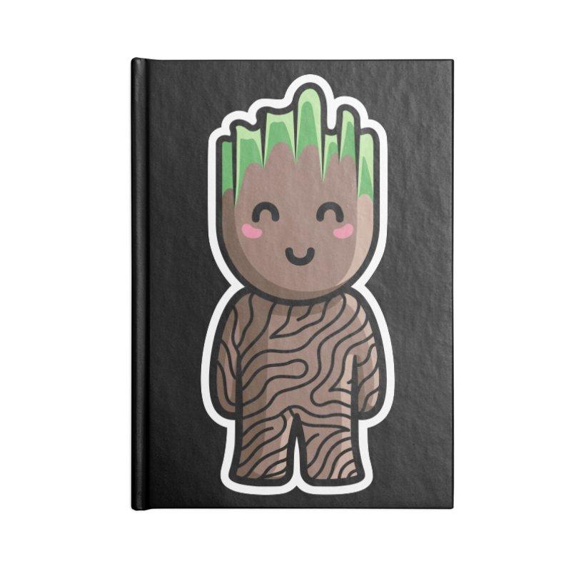 Kawaii Cute Baby Groot Accessories Blank Journal Notebook by Flaming Imp's Artist Shop