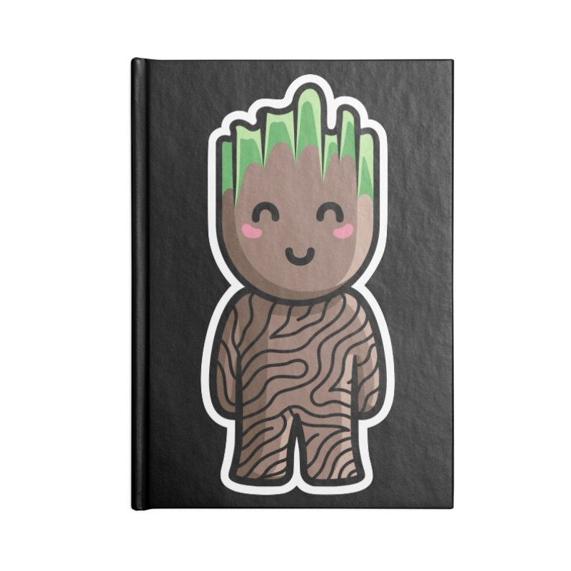 Kawaii Cute Baby Groot Accessories Lined Journal Notebook by Flaming Imp's Artist Shop