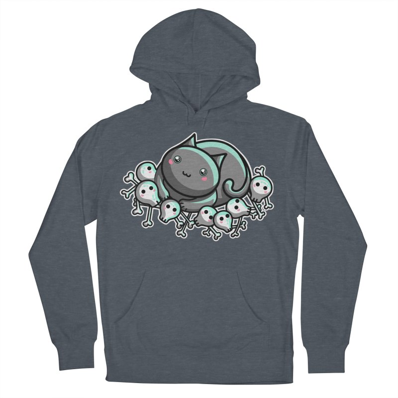 Innocent Cat Men's French Terry Pullover Hoody by Flaming Imp's Artist Shop