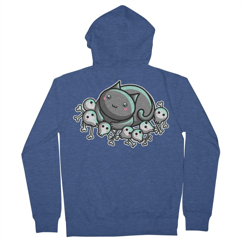 Innocent Cat Women's French Terry Zip-Up Hoody by Flaming Imp's Artist Shop