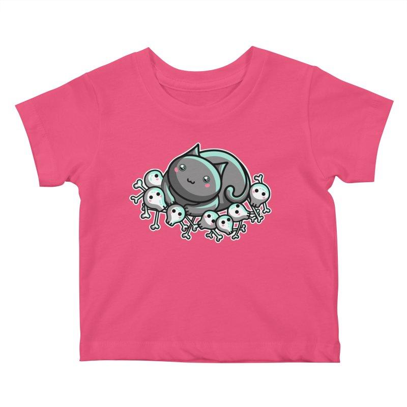 Innocent Cat Kids Baby T-Shirt by Flaming Imp's Artist Shop