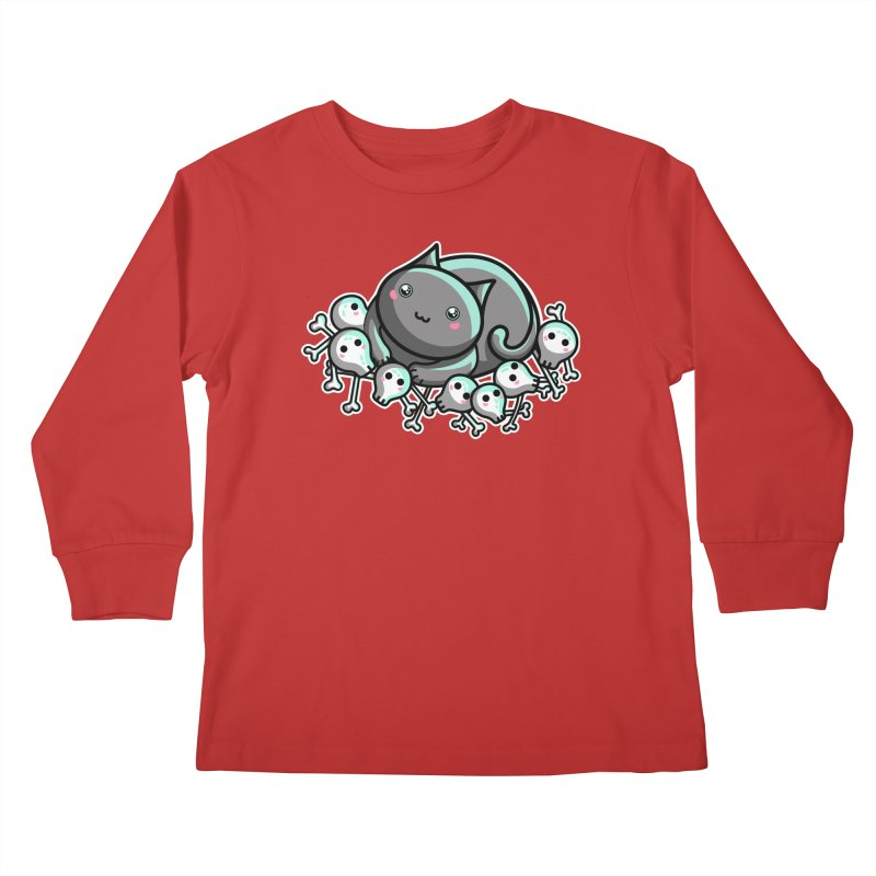 Innocent Cat Kids Longsleeve T-Shirt by Flaming Imp's Artist Shop