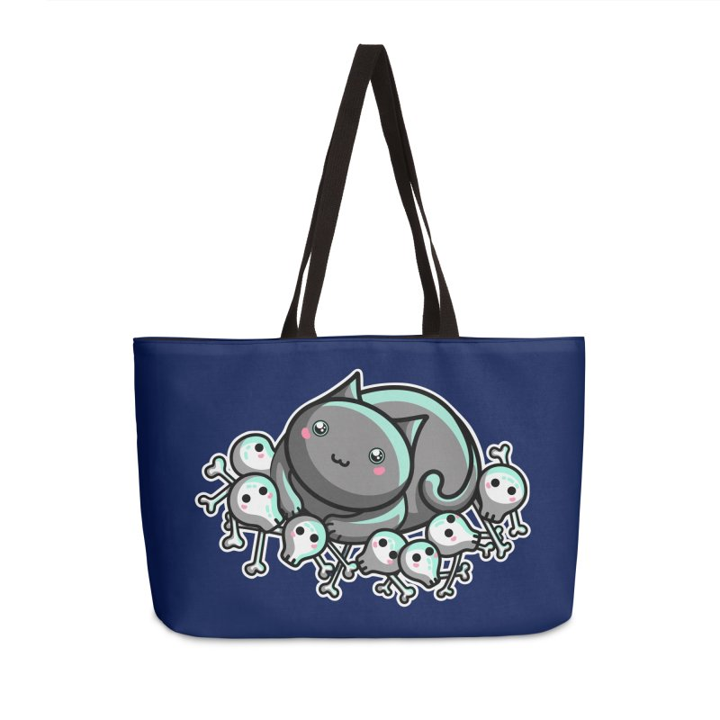 Innocent Cat Accessories Weekender Bag Bag by Flaming Imp's Artist Shop