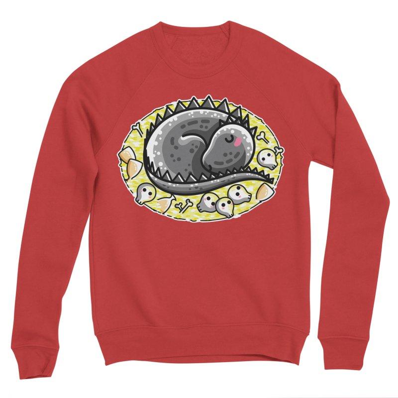 Cute Dragon Asleep on its Hoard Women's Sponge Fleece Sweatshirt by Flaming Imp's Artist Shop