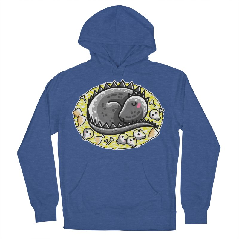 Cute Dragon Asleep on its Hoard Women's French Terry Pullover Hoody by Flaming Imp's Artist Shop