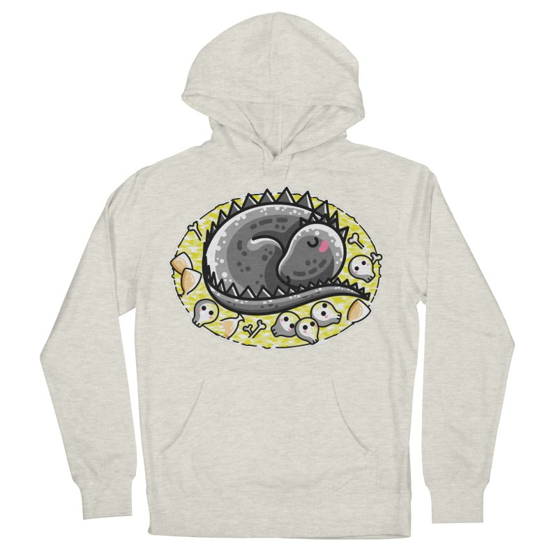 Cute Dragon Asleep on its Hoard Men's French Terry Pullover Hoody by Flaming Imp's Artist Shop