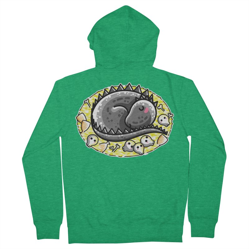 Cute Dragon Asleep on its Hoard Women's French Terry Zip-Up Hoody by Flaming Imp's Artist Shop