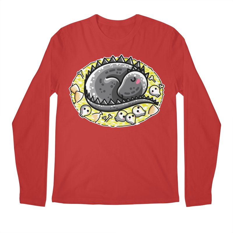 Cute Dragon Asleep on its Hoard Men's Regular Longsleeve T-Shirt by Flaming Imp's Artist Shop