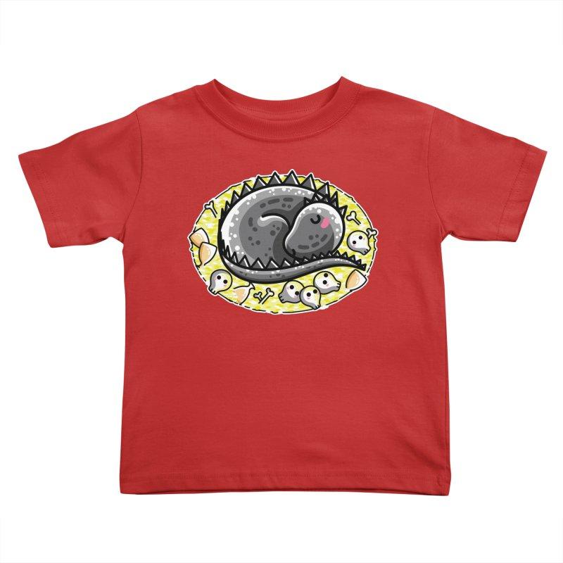 Cute Dragon Asleep on its Hoard Kids Toddler T-Shirt by Flaming Imp's Artist Shop