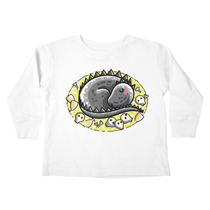 Cute Dragon Asleep on its Hoard Kids Toddler Longsleeve T-Shirt by Flaming Imp's Artist Shop