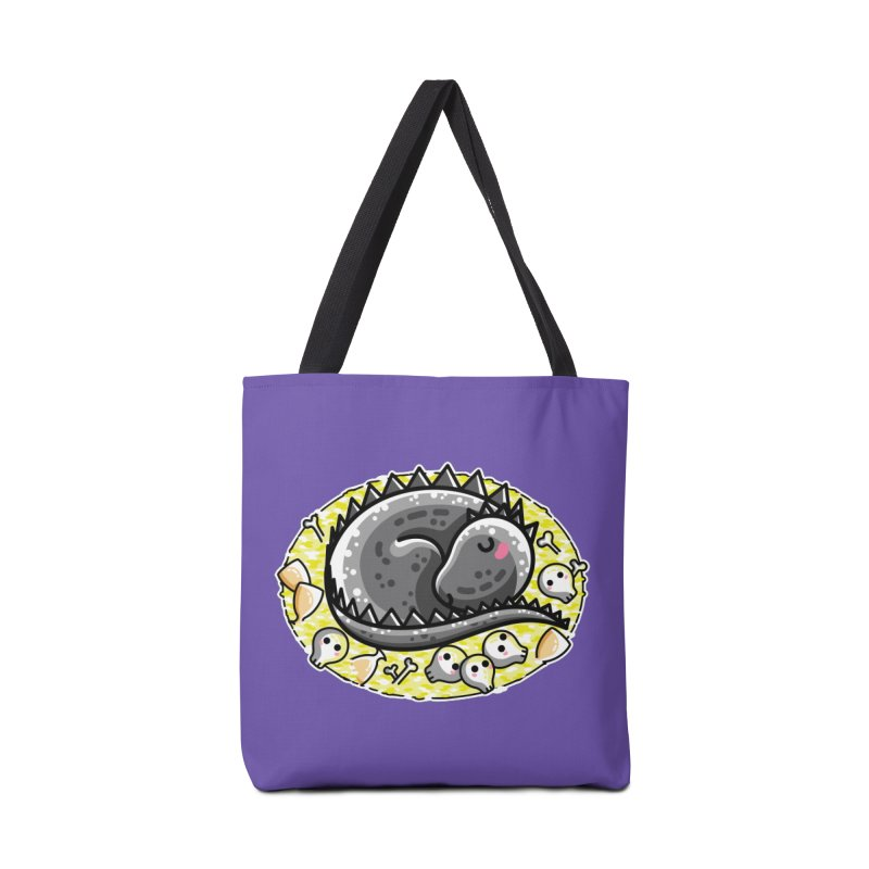 Cute Dragon Asleep on its Hoard Accessories Tote Bag Bag by Flaming Imp's Artist Shop