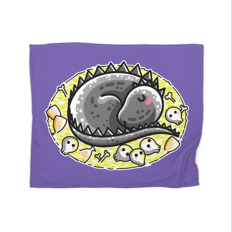 Cute Dragon Asleep on its Hoard Home Fleece Blanket Blanket by Flaming Imp's Artist Shop