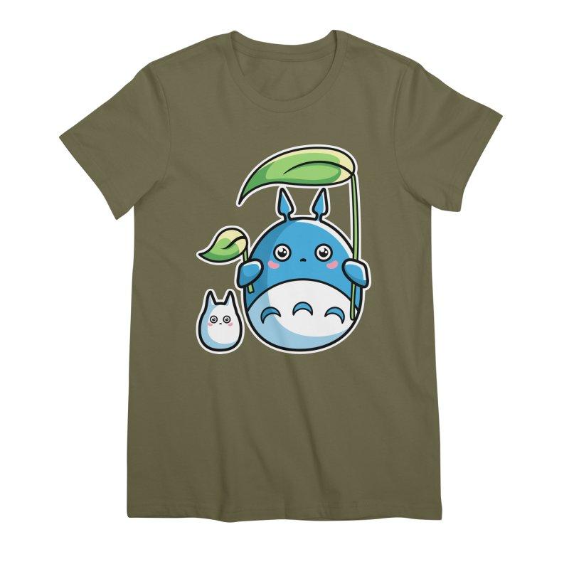 Kawaii Cute Zuku and Mini Women's Premium T-Shirt by Flaming Imp's Artist Shop