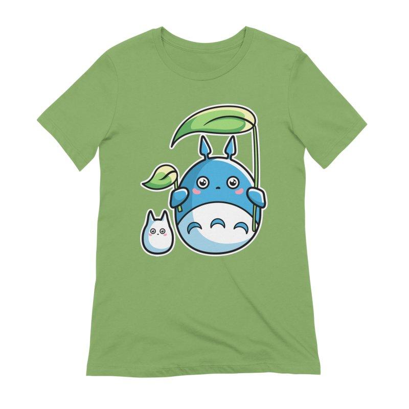 Kawaii Cute Zuku and Mini Women's Extra Soft T-Shirt by Flaming Imp's Artist Shop