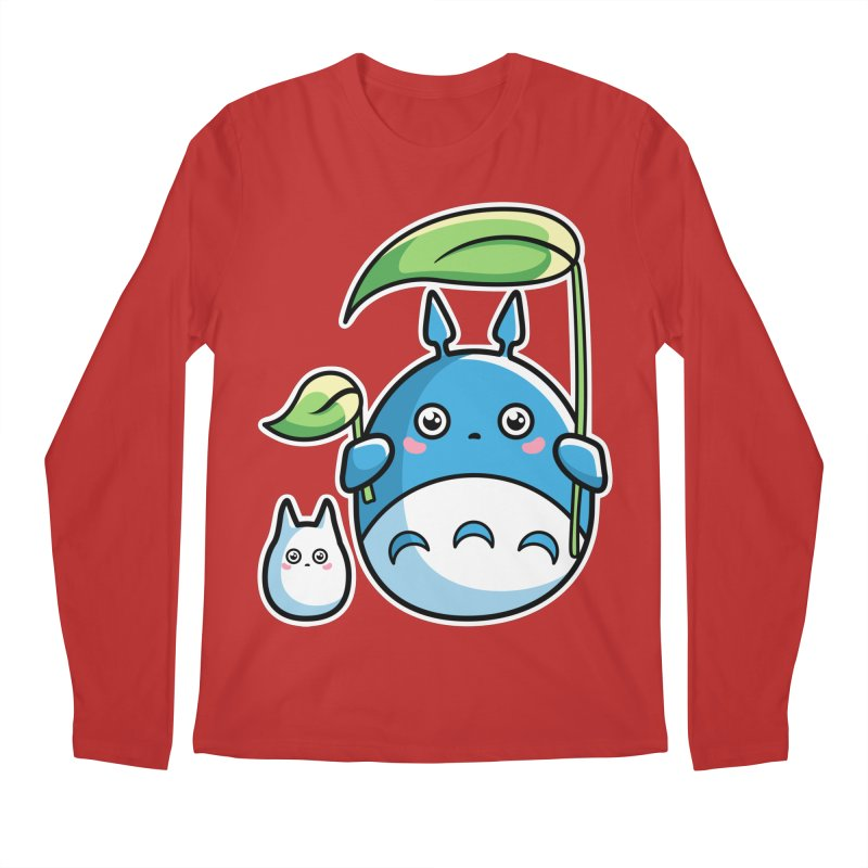 Kawaii Cute Zuku and Mini Men's Regular Longsleeve T-Shirt by Flaming Imp's Artist Shop