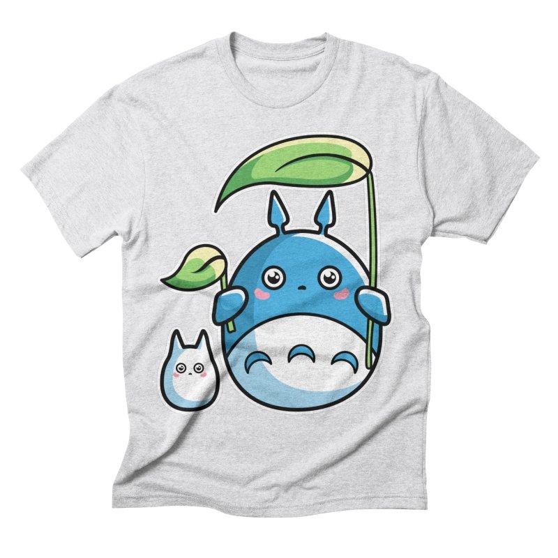 Kawaii Cute Zuku and Mini Men's Triblend T-Shirt by Flaming Imp's Artist Shop