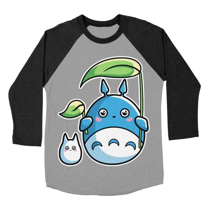 Kawaii Cute Zuku and Mini Women's Baseball Triblend Longsleeve T-Shirt by Flaming Imp's Artist Shop