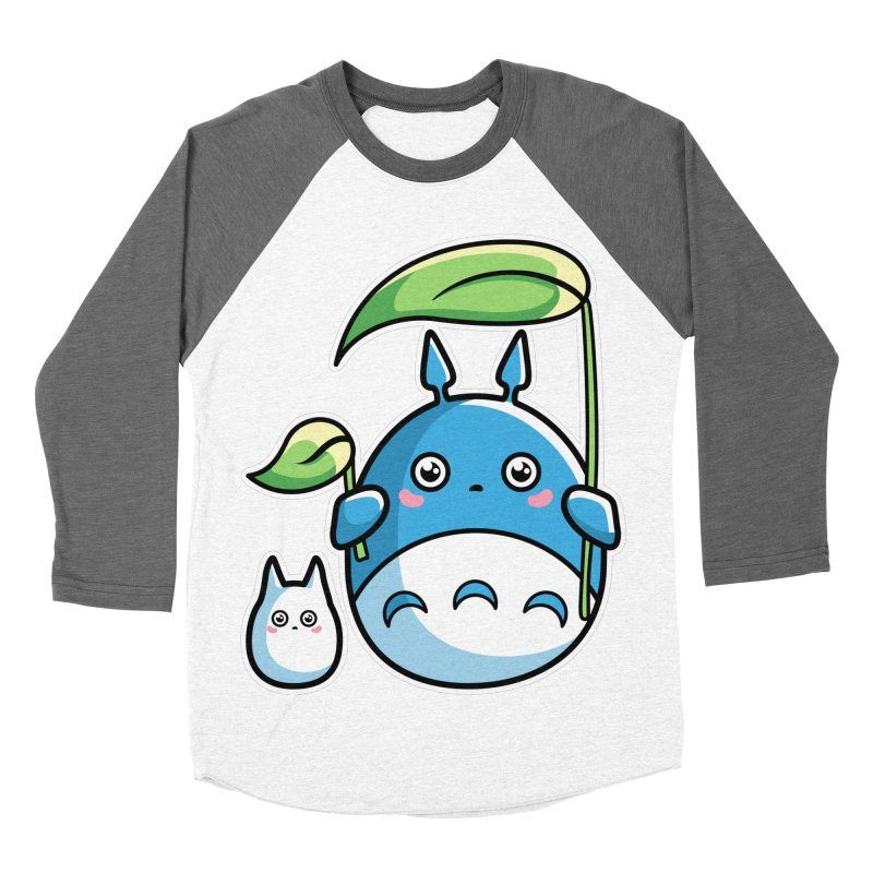 Kawaii Cute Zuku and Mini Men's Baseball Triblend Longsleeve T-Shirt by Flaming Imp's Artist Shop