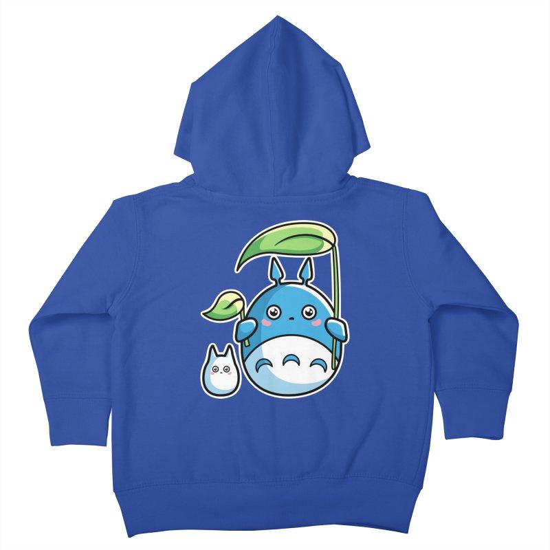 Kawaii Cute Zuku and Mini Kids Toddler Zip-Up Hoody by Flaming Imp's Artist Shop