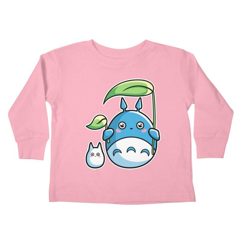 Kawaii Cute Zuku and Mini Kids Toddler Longsleeve T-Shirt by Flaming Imp's Artist Shop