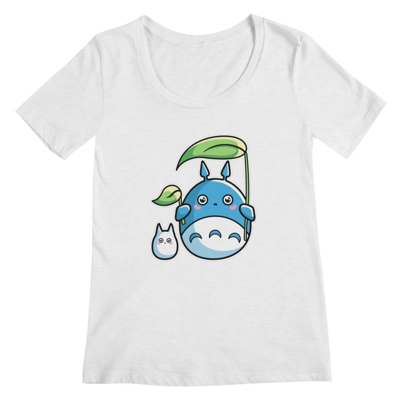 Kawaii Cute Zuku and Mini Women's Regular Scoop Neck by Flaming Imp's Artist Shop