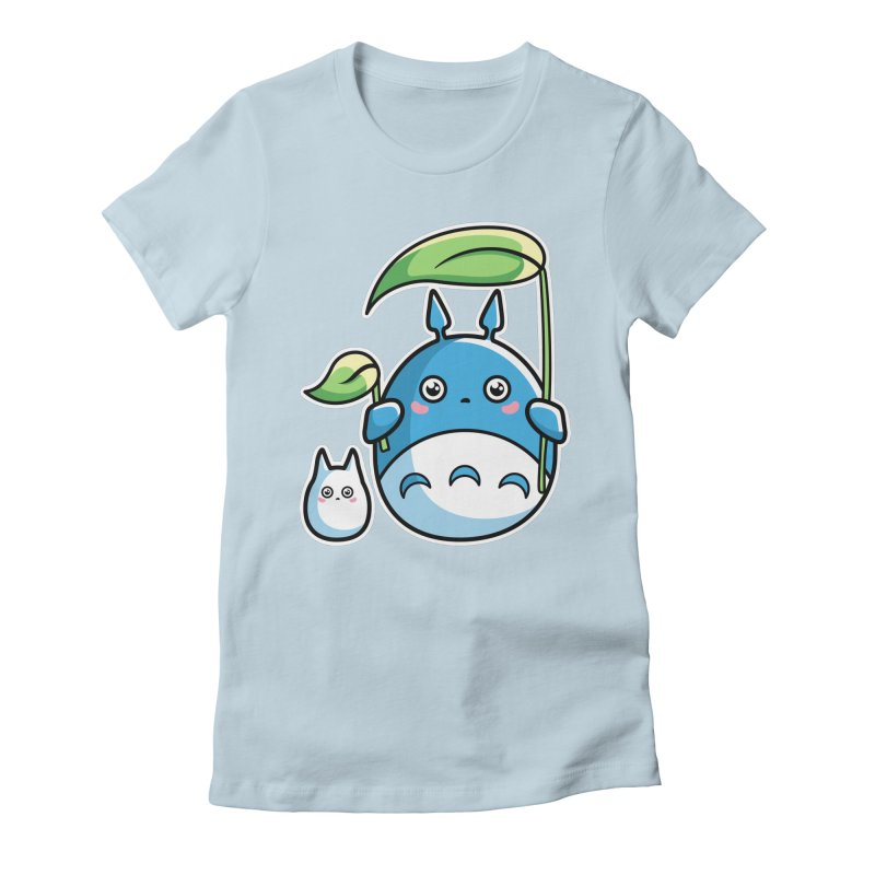Kawaii Cute Zuku and Mini Women's Fitted T-Shirt by Flaming Imp's Artist Shop