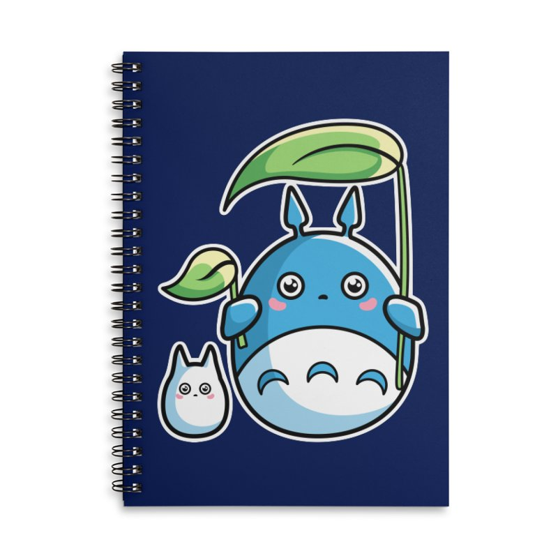 Kawaii Cute Zuku and Mini Accessories Lined Spiral Notebook by Flaming Imp's Artist Shop