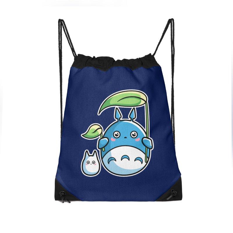 Kawaii Cute Zuku and Mini Accessories Drawstring Bag Bag by Flaming Imp's Artist Shop