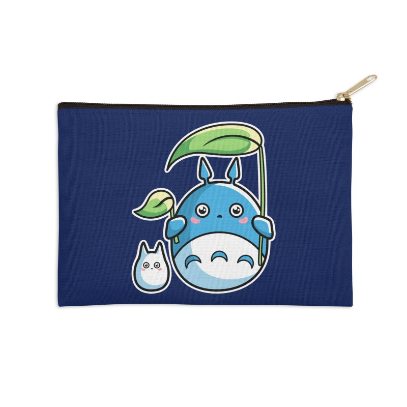 Kawaii Cute Zuku and Mini Accessories Zip Pouch by Flaming Imp's Artist Shop