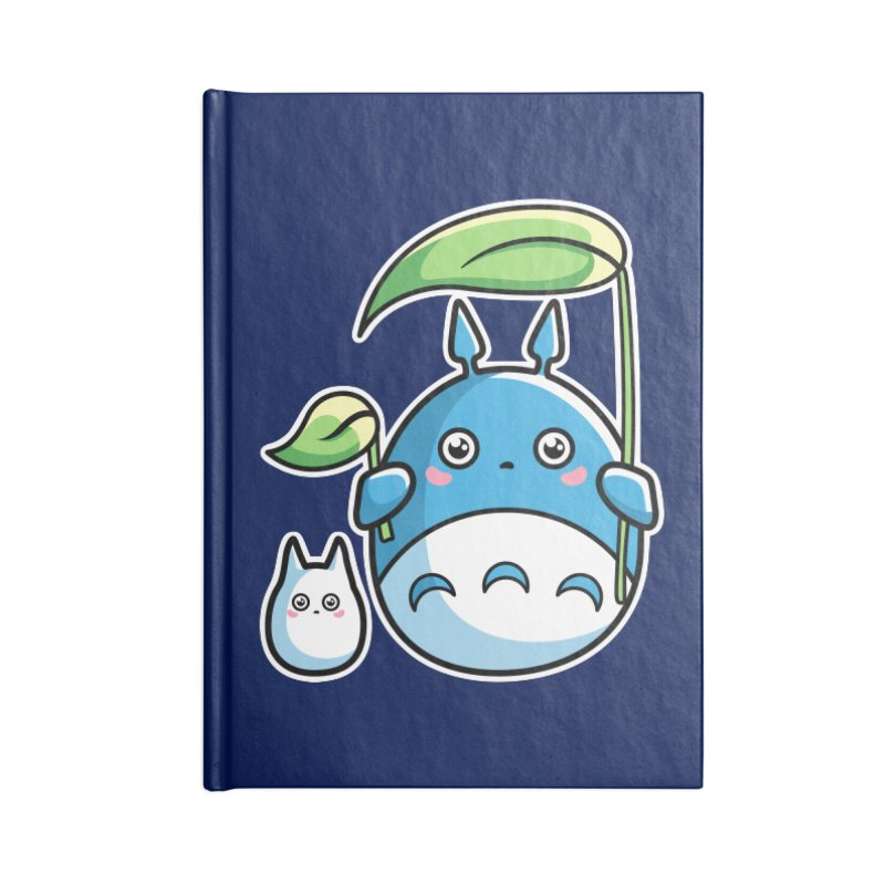 Kawaii Cute Zuku and Mini Accessories Blank Journal Notebook by Flaming Imp's Artist Shop