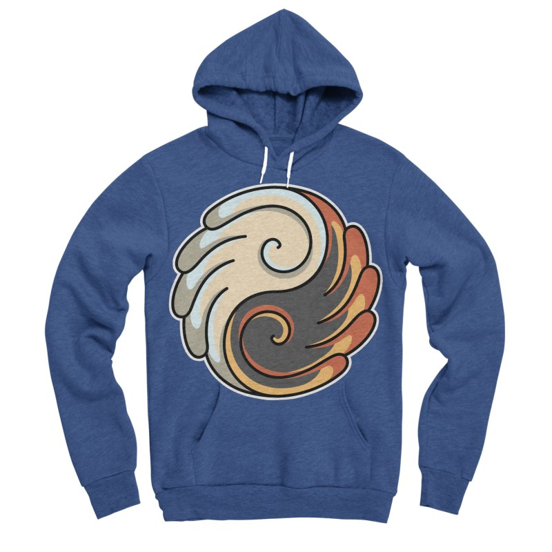 Yin Yang Angel and Demon Wings Women's Sponge Fleece Pullover Hoody by Flaming Imp's Artist Shop
