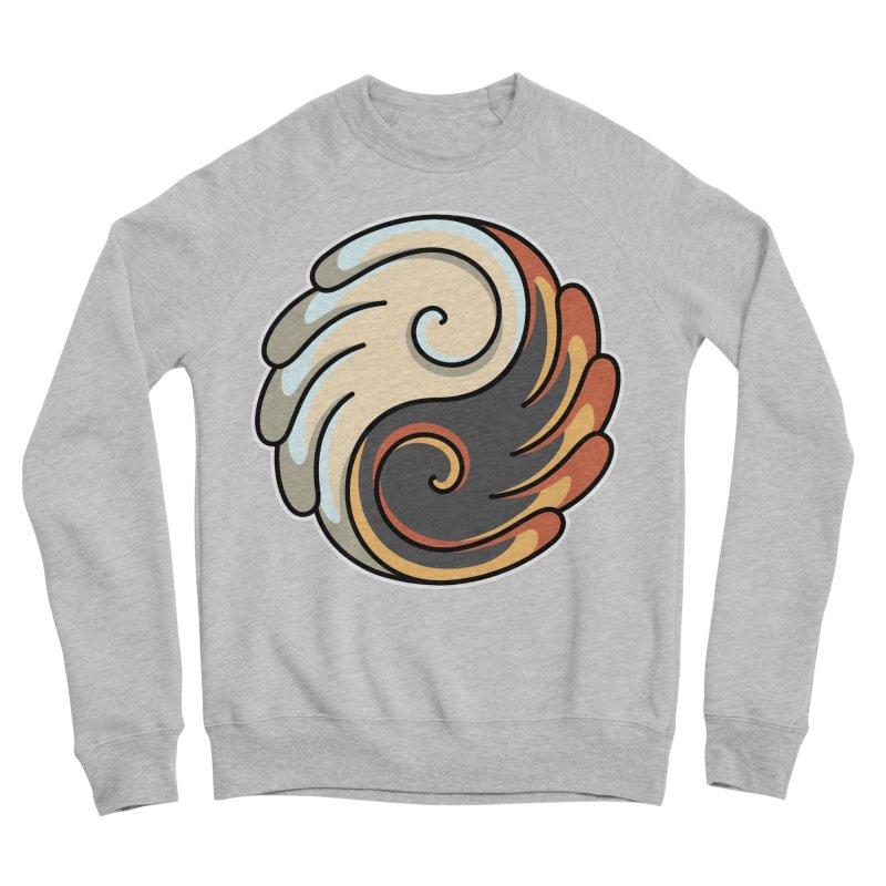 Yin Yang Angel and Demon Wings Men's Sponge Fleece Sweatshirt by Flaming Imp's Artist Shop
