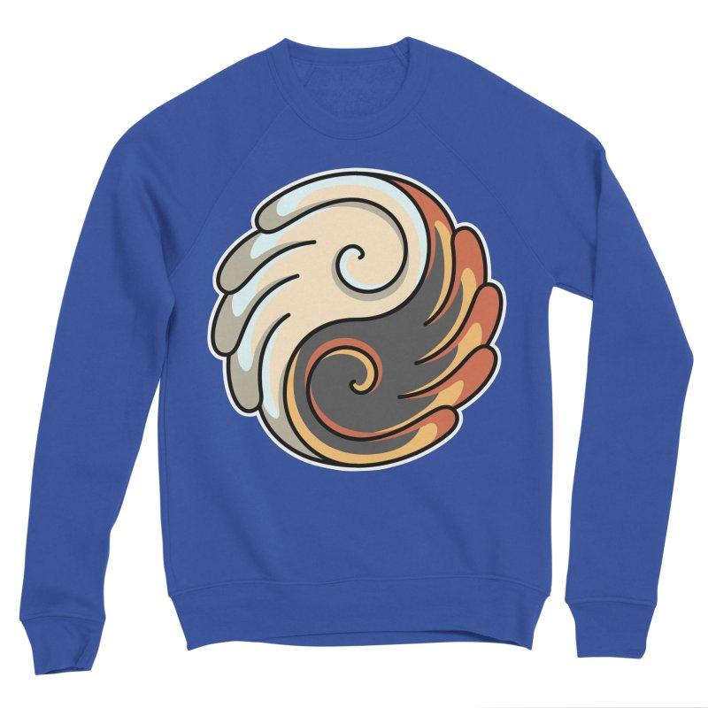 Yin Yang Angel and Demon Wings Women's Sponge Fleece Sweatshirt by Flaming Imp's Artist Shop