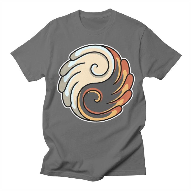 Yin Yang Angel and Demon Wings Men's T-Shirt by Flaming Imp's Artist Shop