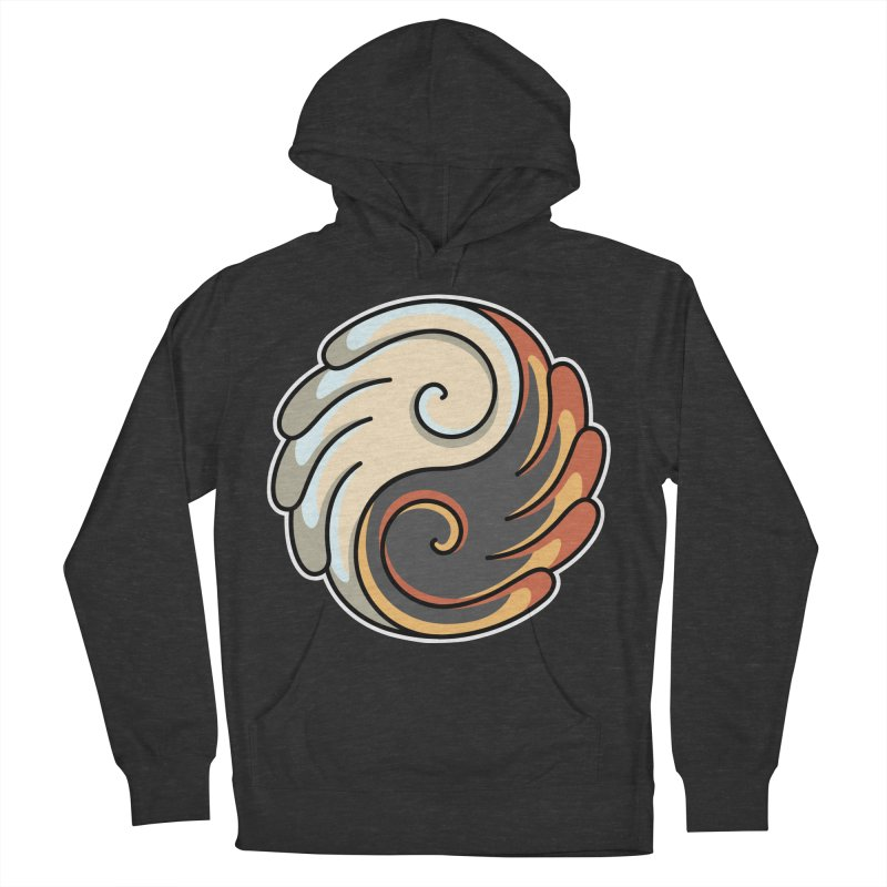 Yin Yang Angel and Demon Wings Women's French Terry Pullover Hoody by Flaming Imp's Artist Shop