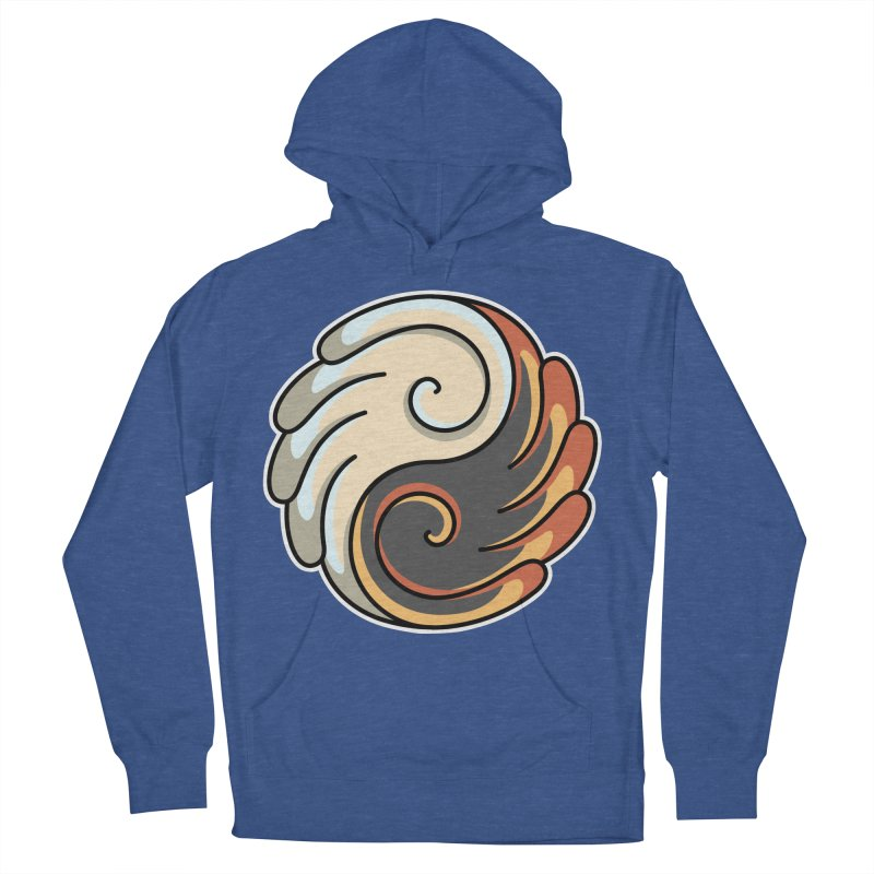 Yin Yang Angel and Demon Wings Men's French Terry Pullover Hoody by Flaming Imp's Artist Shop